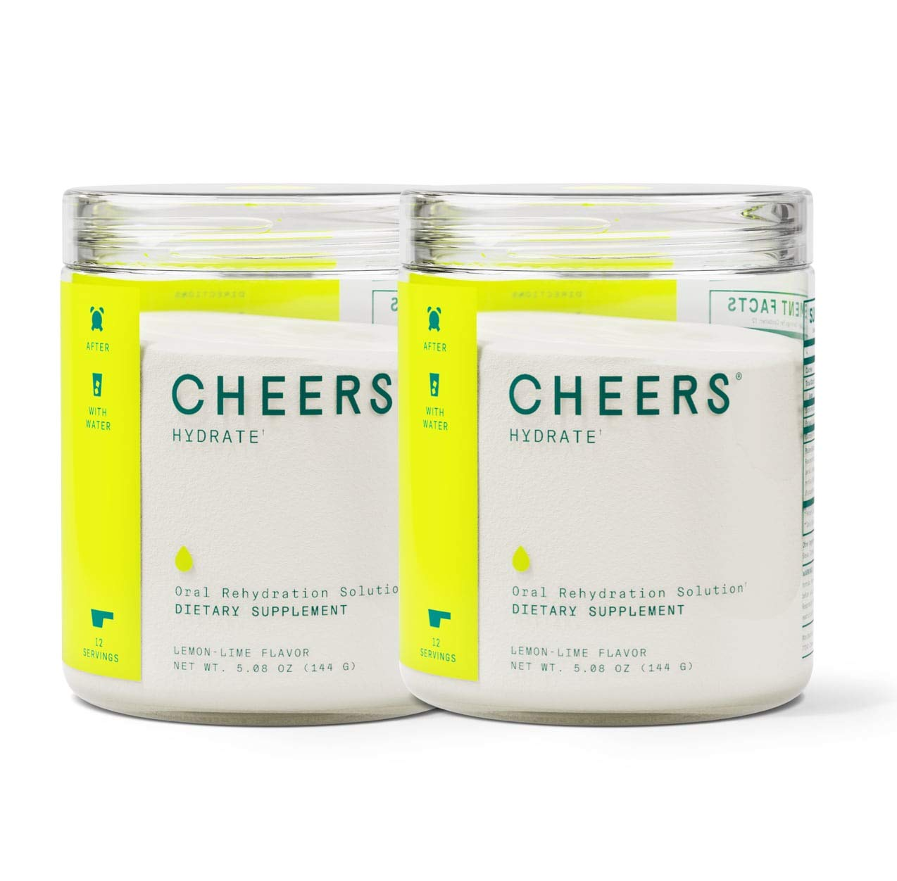 Cheers (Formerly Thrive+) ORS Electrolyte Powder- Electrolyte Supplement & Hydration Powder Hangover Prevention & Cure (24 Servings) - Hydration Electrolyte Supplement - Delicious Lemon/Lime Flavor