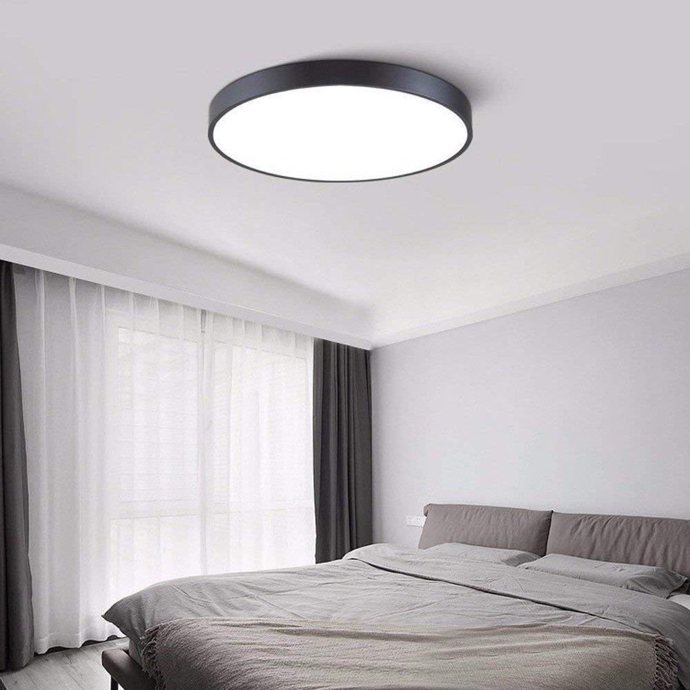 Ultrafino Redonda Techo Moderna Syaodu Lámpara Luz De nwOP08Xk