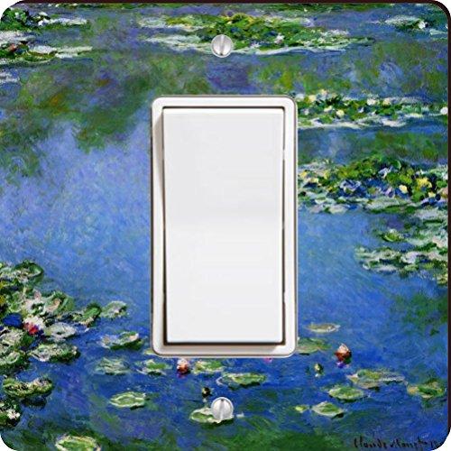 Rikki Knight 3552 Single Rocker Claude Monet Art Water Lilies Design Light Switch Plate