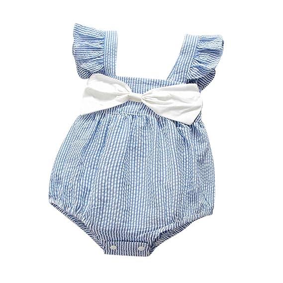 Conjunto de Ropa para bebé, subfamilia Recién Nacido Bebé Mono Vestido de Rayas sin Mangas Arco 6 a 24 Meses: Amazon.es: Ropa y accesorios
