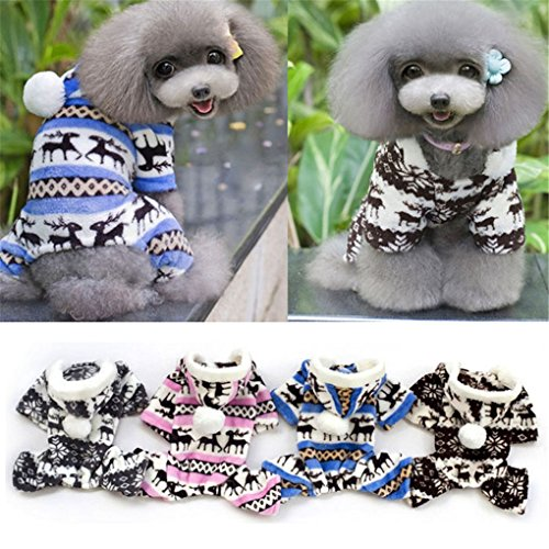 Image of haoricu Puggy Clothes, autumn Stylish Pet Dog Warm Clothes Puppy Jumpsuit Hoodie Coat Doggy Apparel Hoodies Costume Apparel (XXL (XL, Blue)