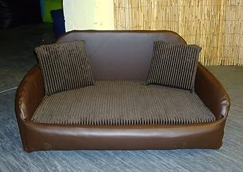 Zippy piel sintética cama sofá para perros - grande - marrón/marrón Jumbo cable: Amazon.es: Productos para mascotas