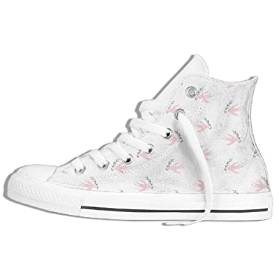 Pink Pattern Men Women Unique High Top Flat Canvas Shoes Sneakers Unisex