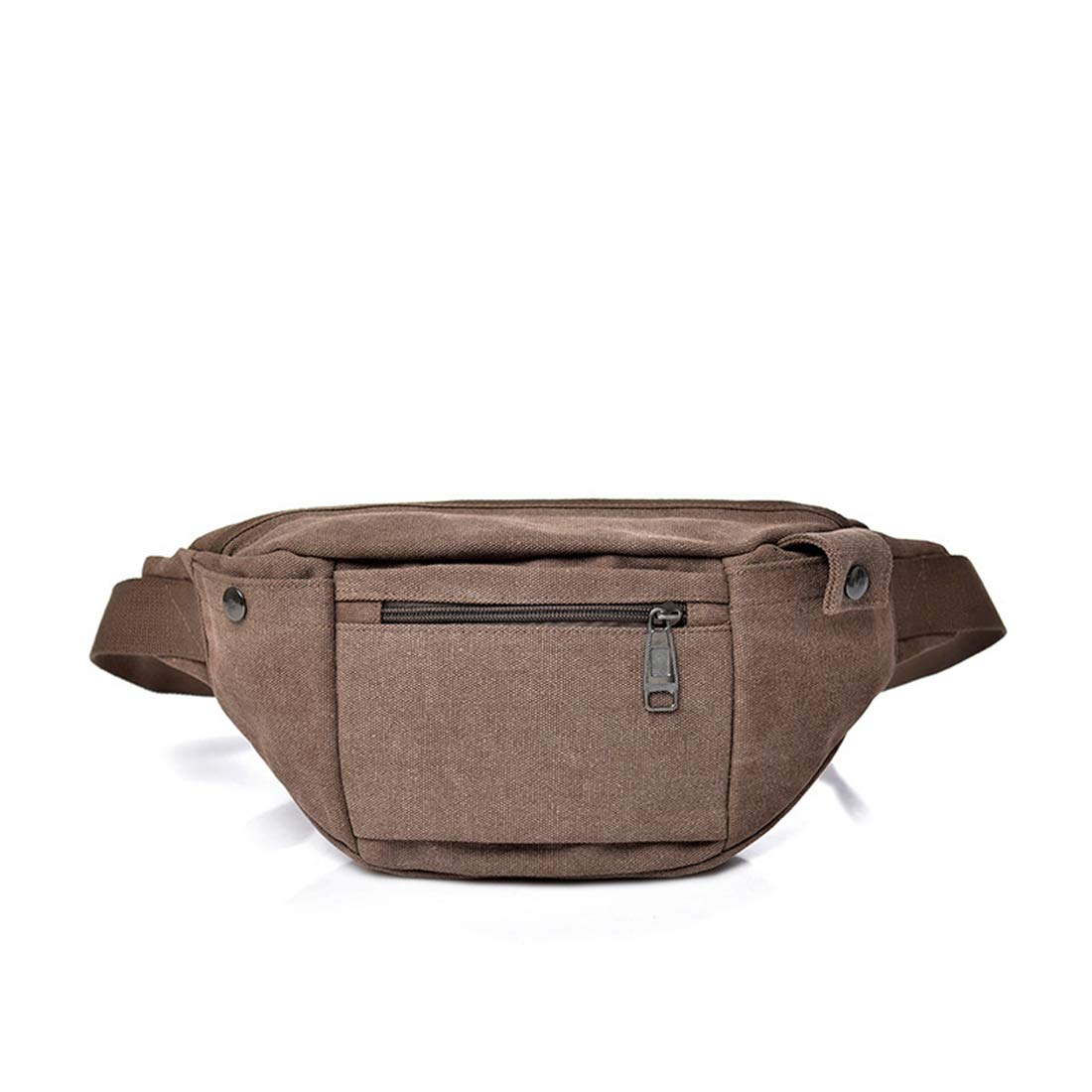 Color : Coffee Color Adams chad Belt Holster Bag Fanny Waist Pack Crossbody Bag for Men Boy