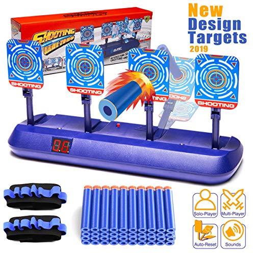 INGREEN Electronic Shooting Target Auto Scoring Resets for Nerf Gun Toys, Electric Digital Shooting Target Ideal Toys Gifts for Kids, Teens, Boys & Girls