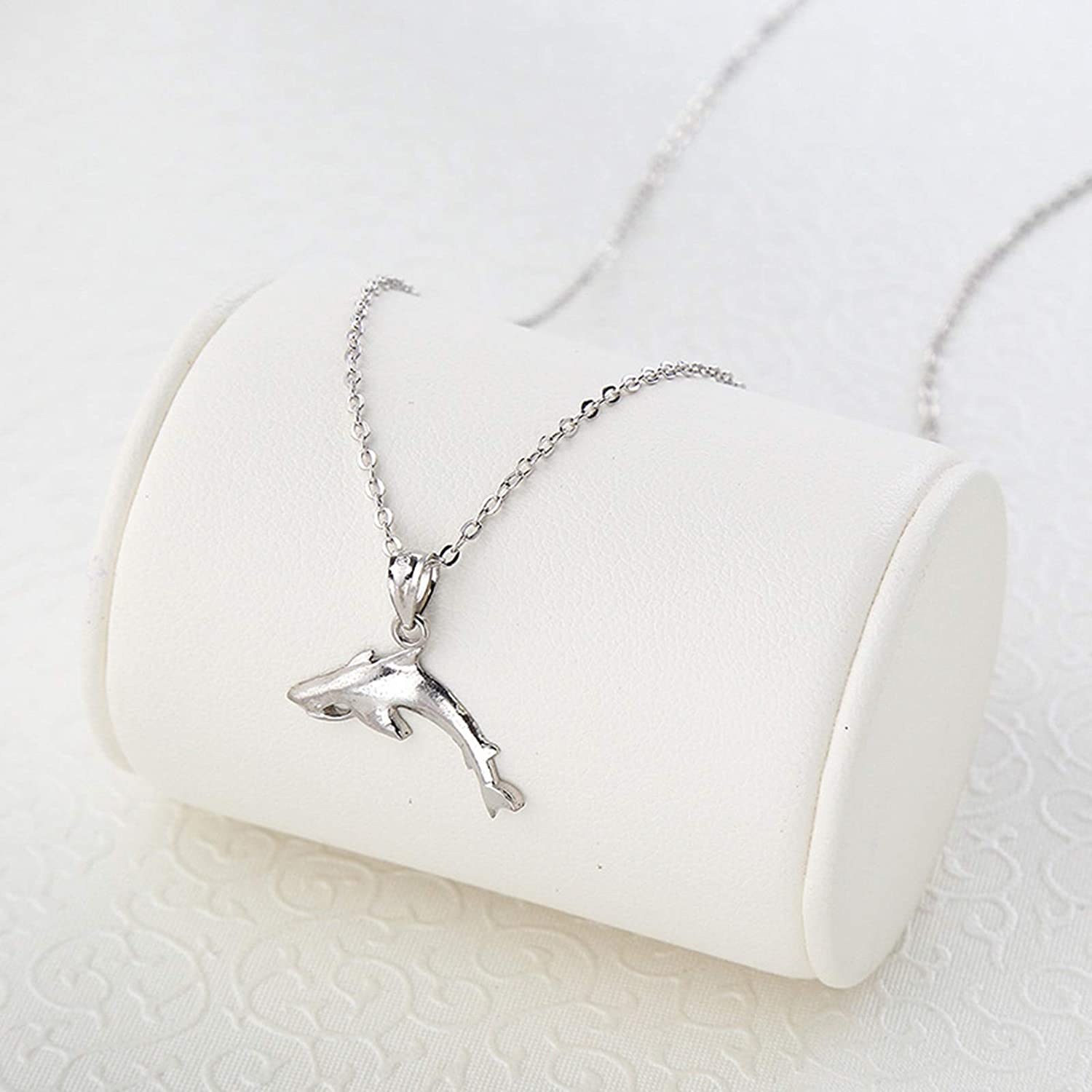 KnSam Womens Necklace Silver Shark Name Necklace Personalized Color Silver