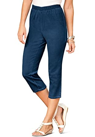 Women's Plus Size Stretch Capris at Amazon Women's Clothing store ...