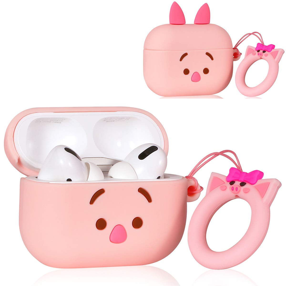 Q Piglet Lalakaka Compatible With Airpods 1 2 Cute Case 3d Cartoon