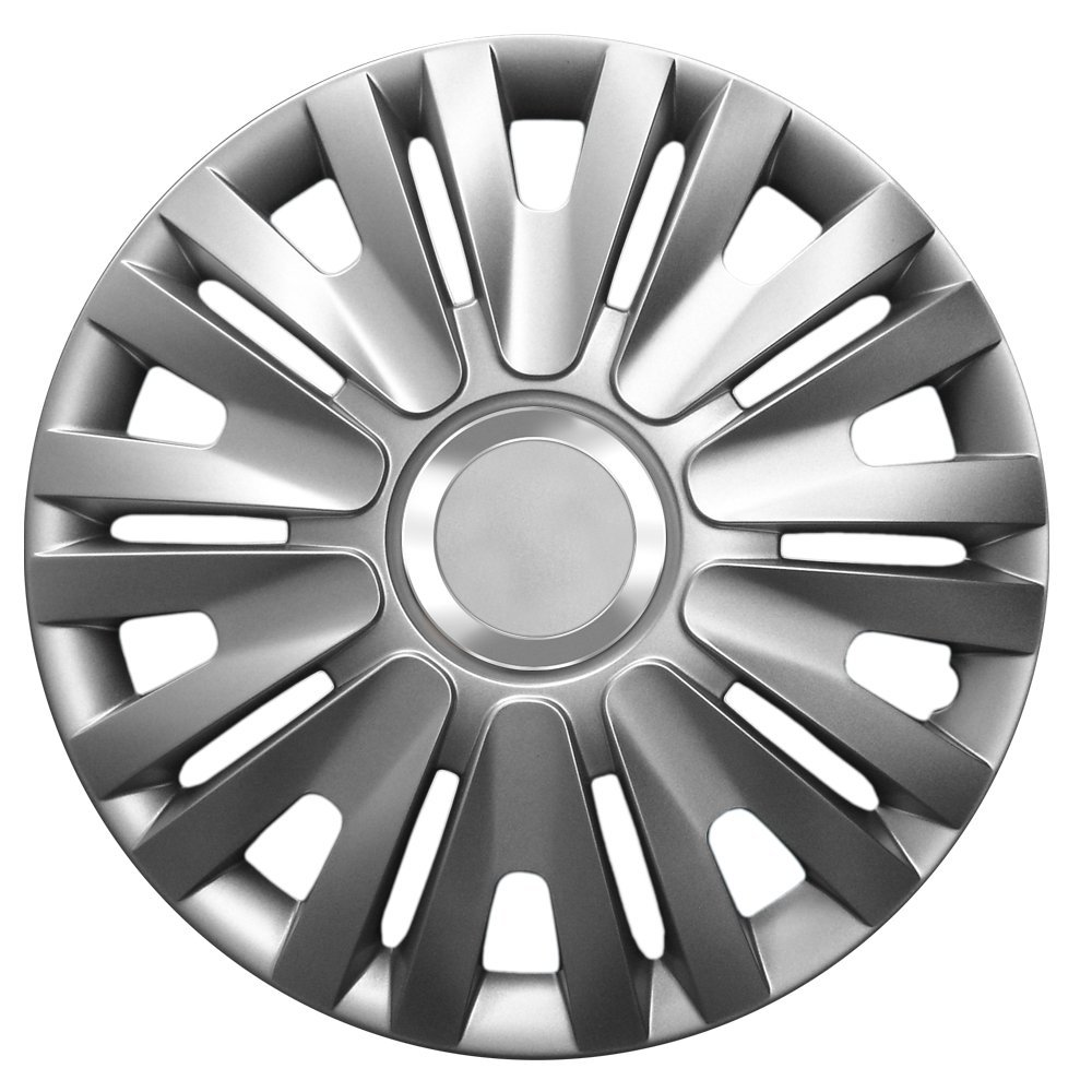 CM DESIGN 14 Inch Wheel Trims Delta Graphite (Grey with Chrome Ring) Wheel Trims suitable for almost all Opel Astra G: Amazon.co.uk: Car & Motorbike