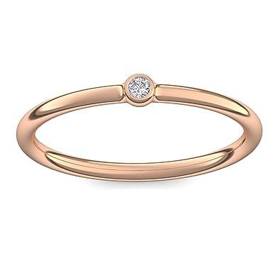Vorsteckring Verlobungsring Rosegold Ring Diamant 585 Inkl