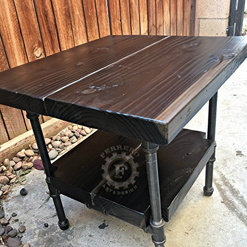 Rustic Steampunk Table Industrial Nightstand Decor Side