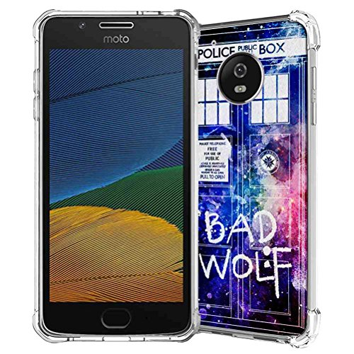 Moto G5 Plus Case, SuperbBeast Slim Thin Scratch Resistant TPU Gel Rubber Soft Skin Silicone Protective Case Cover for Motorola Moto G5 Plus 2017 (Police Box Pattern)