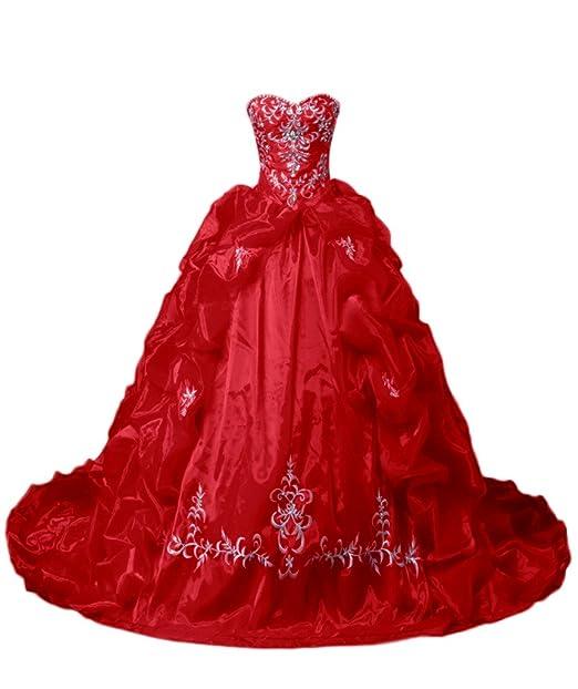 sunvary Gorgeous a-line brillantes Sweetheart satinado quinceañera vestidos fiesta vestidos de novia: Amazon.es: Ropa y accesorios