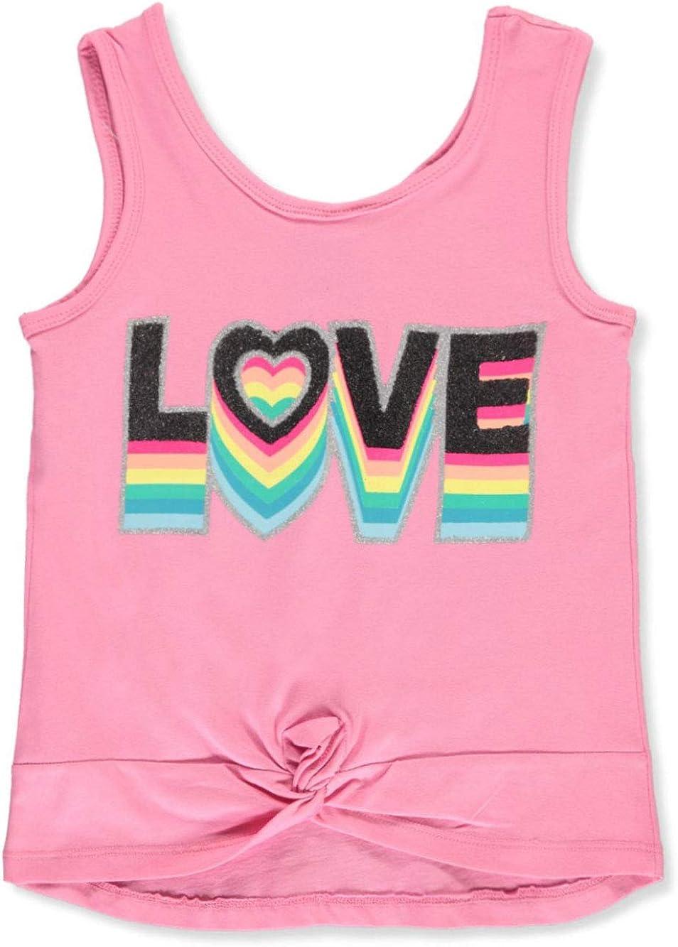 Real Love Girls Glitter Love Tank Top