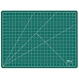"US Art Supply® 18"" x 24"" GREEN/BLACK Professional Self Healing 5-Ply Double Sided Durable Non-Slip PVC Cutting Mat Great for Scrapbooking, Quilting, Sewing and all Arts & Crafts Projects (Choose Green/Black or Pink/Blue Below)"
