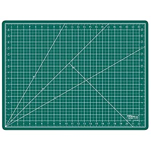 """US Art Supply 18"""" x 24"""" GREEN/BLACK Professional Self Healing 5-Ply Double Sided Durable Non-Slip PVC Cutting Mat Great for Scrapbooking, Quilting, Sewing and all Arts & Crafts Projects"""
