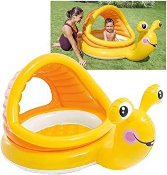 Intex 57124NP - Piscina hinchable Caracol 145 x 102 x 74 cm, 53 litros: Amazon.es: Jardín