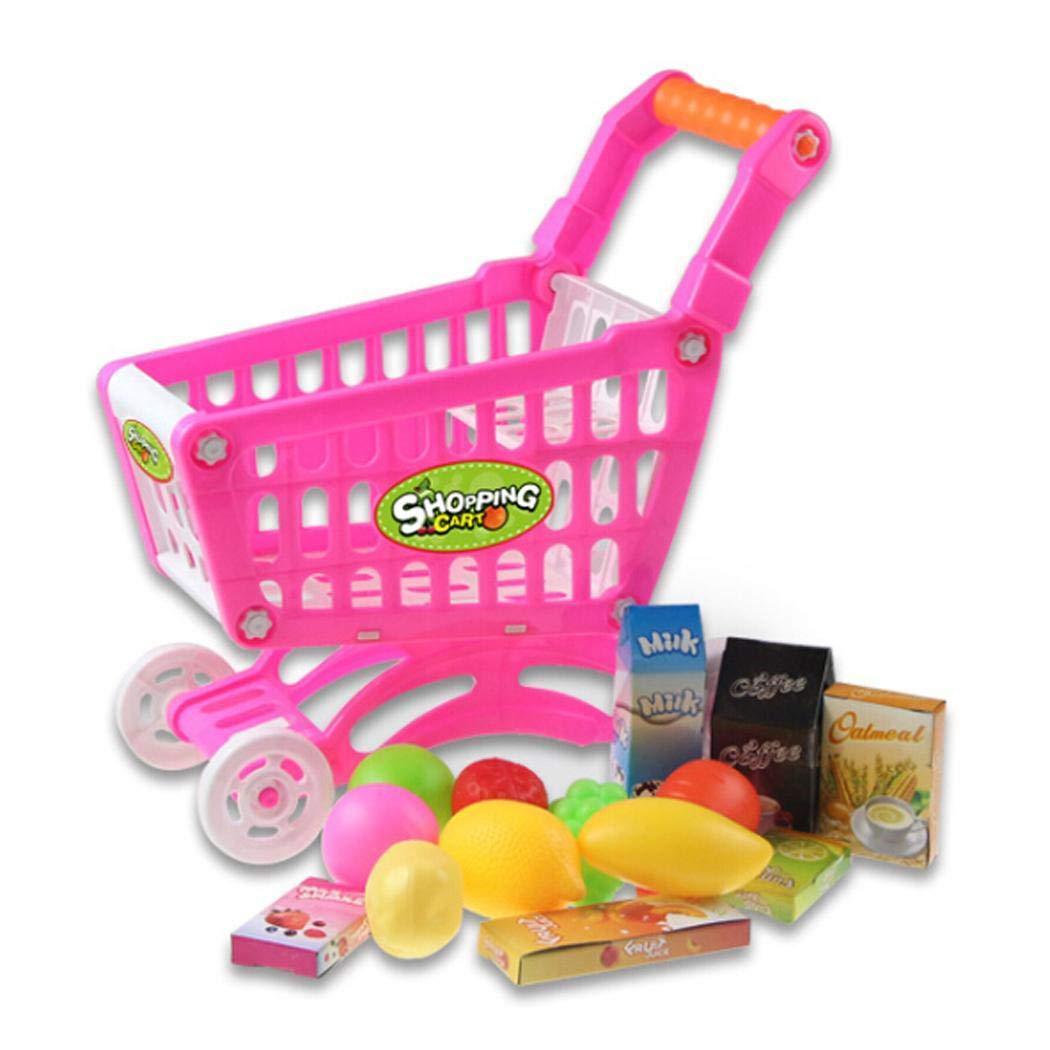 Amazon.com: Kizaen Shopping Cart Toy Kids Educational Toy Fruit Vegetable Supermarket Shopping Cart Mini Trolley Cart: Toys & Games
