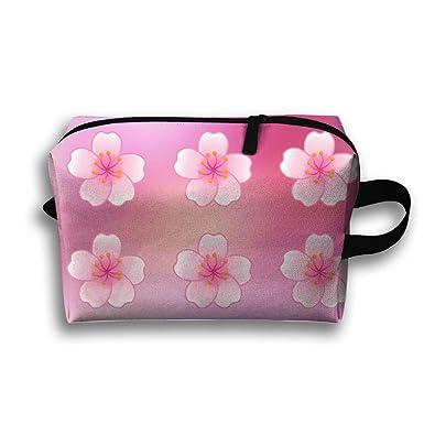 4b9428d557a3 Amazon.com: Travel Jewelry Pouch Japanese Sakura Flower Cosmetic ...