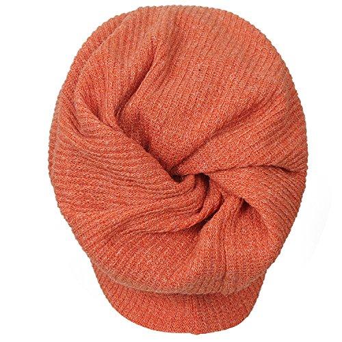 naranja ililily Cap Knit Snood Skull Beanie Hat Neck Ribbed HSSOxFwq8z