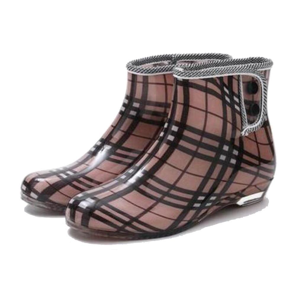 SIHUINIANHUA Frühling Frühling Frühling und Herbst Gelee Regen Stiefel Damen Kurze Stiefel Garten Slip Schuhe Schuhe, 1, 40 B07H8XCM1J Sport- & Outdoorschuhe Neues Design 4b2ba3