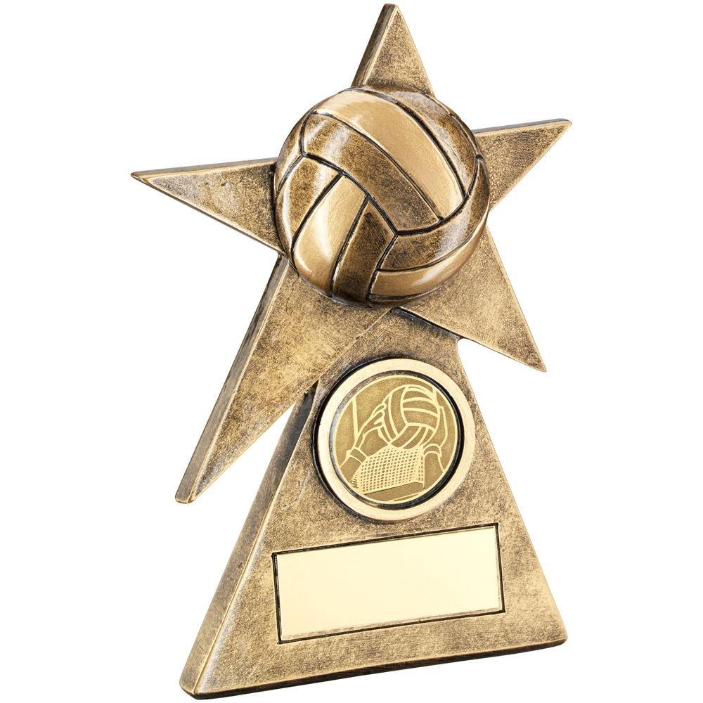 Lapal寸法BRZ/ゴールドGaelic Football Star onピラミッドベーストロフィー – (1in Centre) – 6 in B07FB3Q89Z