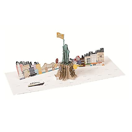 Amazon Happy Birthday Laser Cut New York Pop Up Greeting Card Office Products