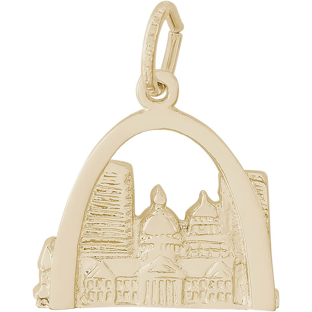 Rembrandt Charms 10K Yellow Gold St. Louis Skyline Charm (14.5 x 16.5 mm) by Rembrandt Charms