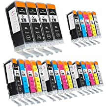 Sophia Global Compatible Ink Cartridge Replacement for PGI-270XL and CLI-271XL, 4 Large Black, 4 Small Black, 4 Cyan, 4 Magenta, 4 Yellow, 4 Gray