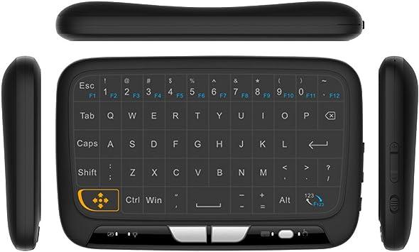 Docooler Teclado Inalámbrico con Touchpad 2.4GHz Mando a Distancia Teclado Modo Ratón con Respuesta de Vibración de la Almohadilla de Contacto Grande para Smart TV Android TV Box PC Portátil: Amazon.es: Electrónica