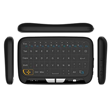 Docooler Teclado Inalámbrico con Touchpad 2.4GHz Mando a Distancia Teclado Modo Ratón con Respuesta de