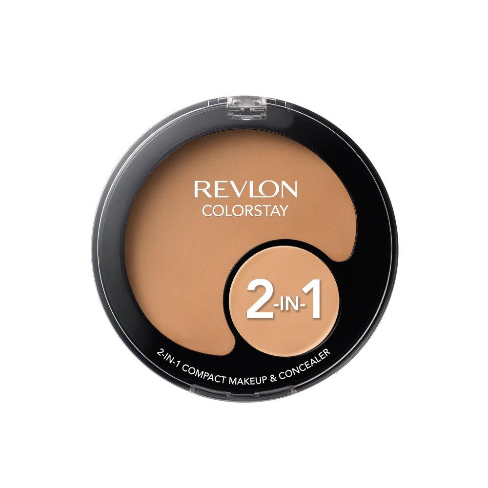 Revlon Colorstay 2-N-1 Compact Makeup and Concealer, Caramel, 12.3g 7213147055