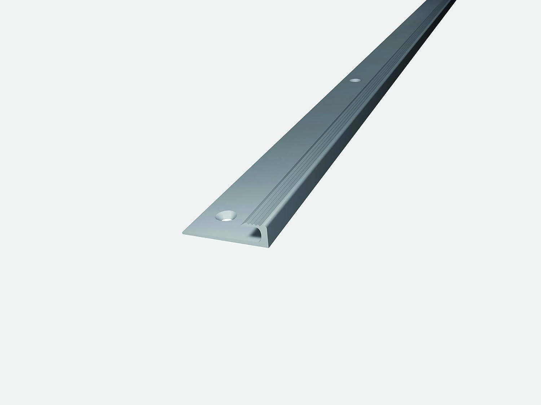 Prinz Aluminium-Abschlussprofil Nr. 143, 30x5mm, 100cm lang (havanna/edelstahloptik matt (neue Bezeichnung)) Carl Prinz