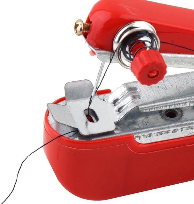 TF Máquina de coser portátil Mini de mano Herramienta de puntada ...