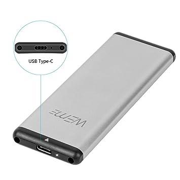 3.1 Type C External Drive Enclosure Case w// UASP M.2 NGFF SATA SSD to USB 3.0