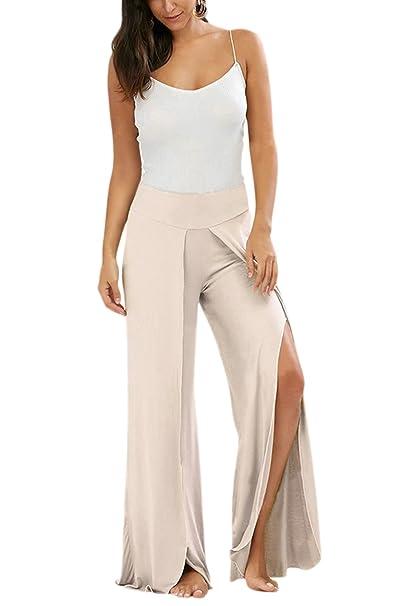 La Mujer Pantalones De Yoga Raja Monocolor Largo Ancho Alto ...