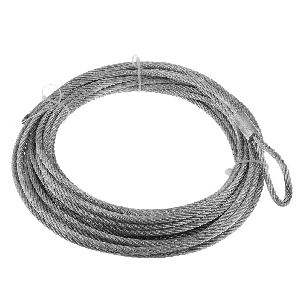 Homyl Heavy Duty Wire Winch Rope for ATV UTV 12.2m X 5.5 mm