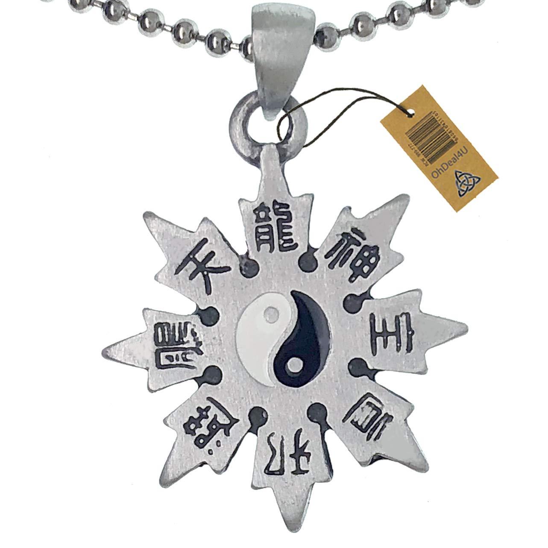 Ohdeal4U Kung Fu Yin Yang Bagua Shuriken Ninja Trowing Star ...