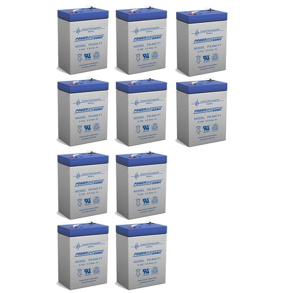 Powersonic 6V 4.5AH Battery for Dual-Lite 12-295 Emergency Light - 10 Pack by Power Sonic (Image #1)