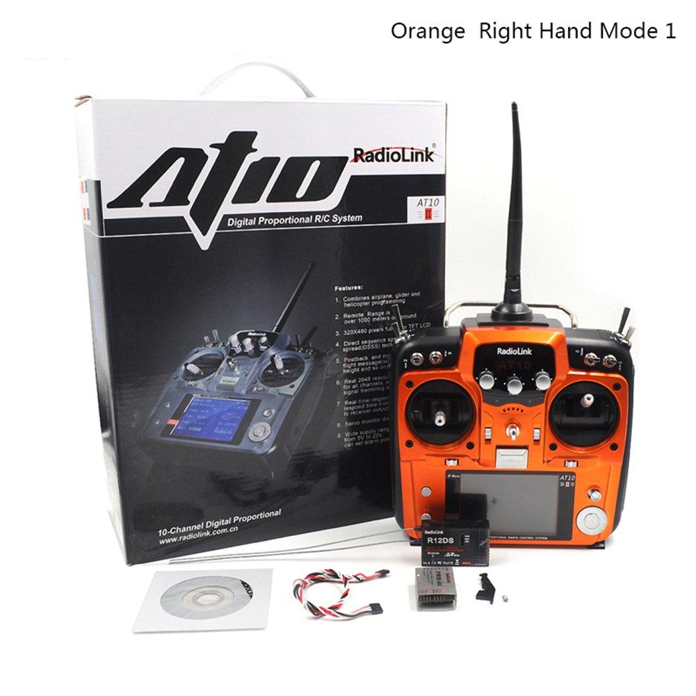 compra limitada iBellete iBellete iBellete Transmisor RadioLink AT10 II 2.4G 12CH RC y receptor R12DS PRM-01 para RC Drone  mejor reputación
