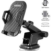 Portronics Clamp M POR-116 Car Mobile Holder (Black)