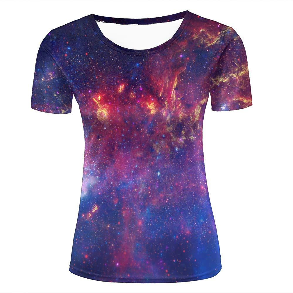 Amazon Mens 3d Print T Shirts Galaxy Space Constellation Short