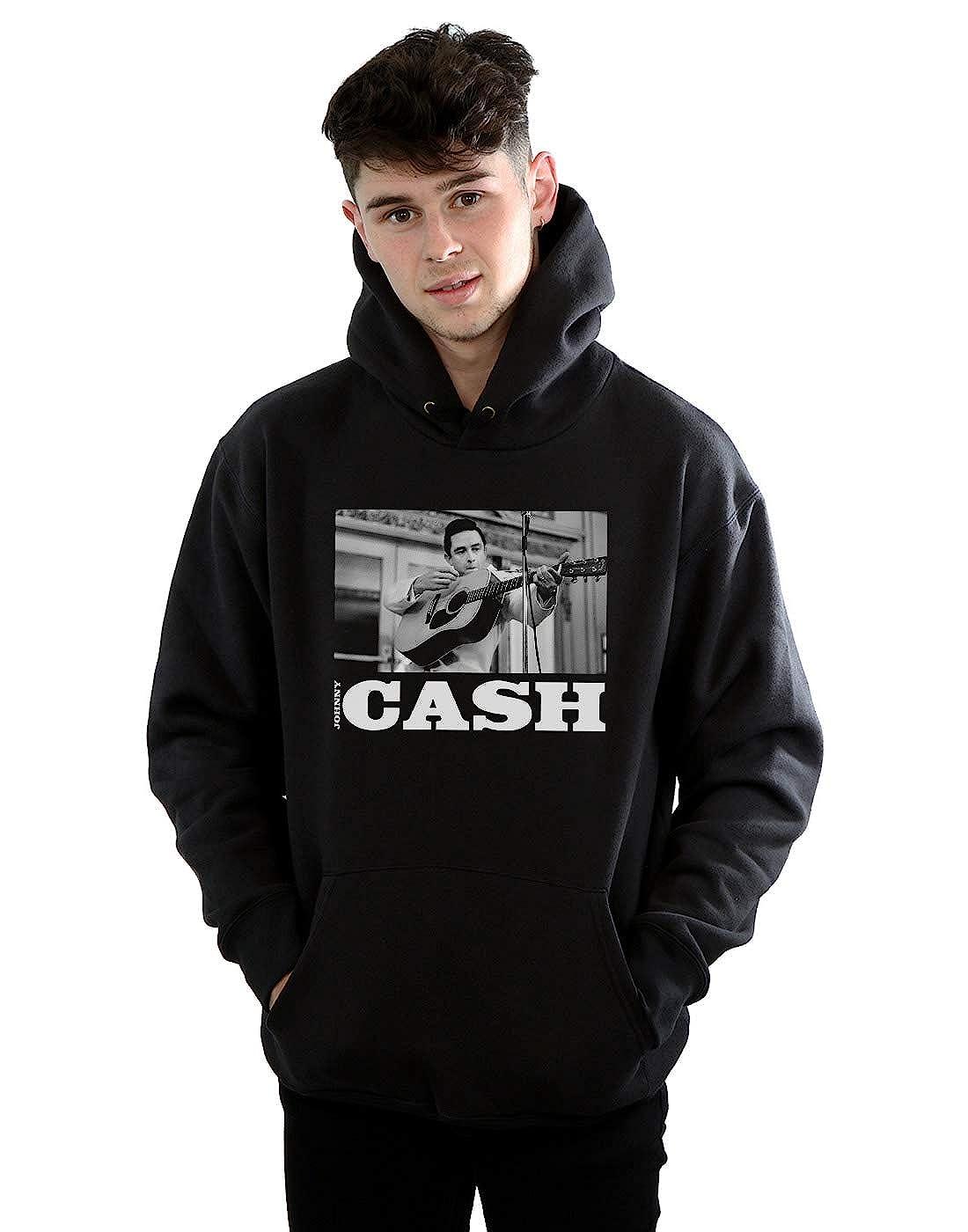 Absolute Cult Johnny Cash Mens Plays Guitar Hoodie