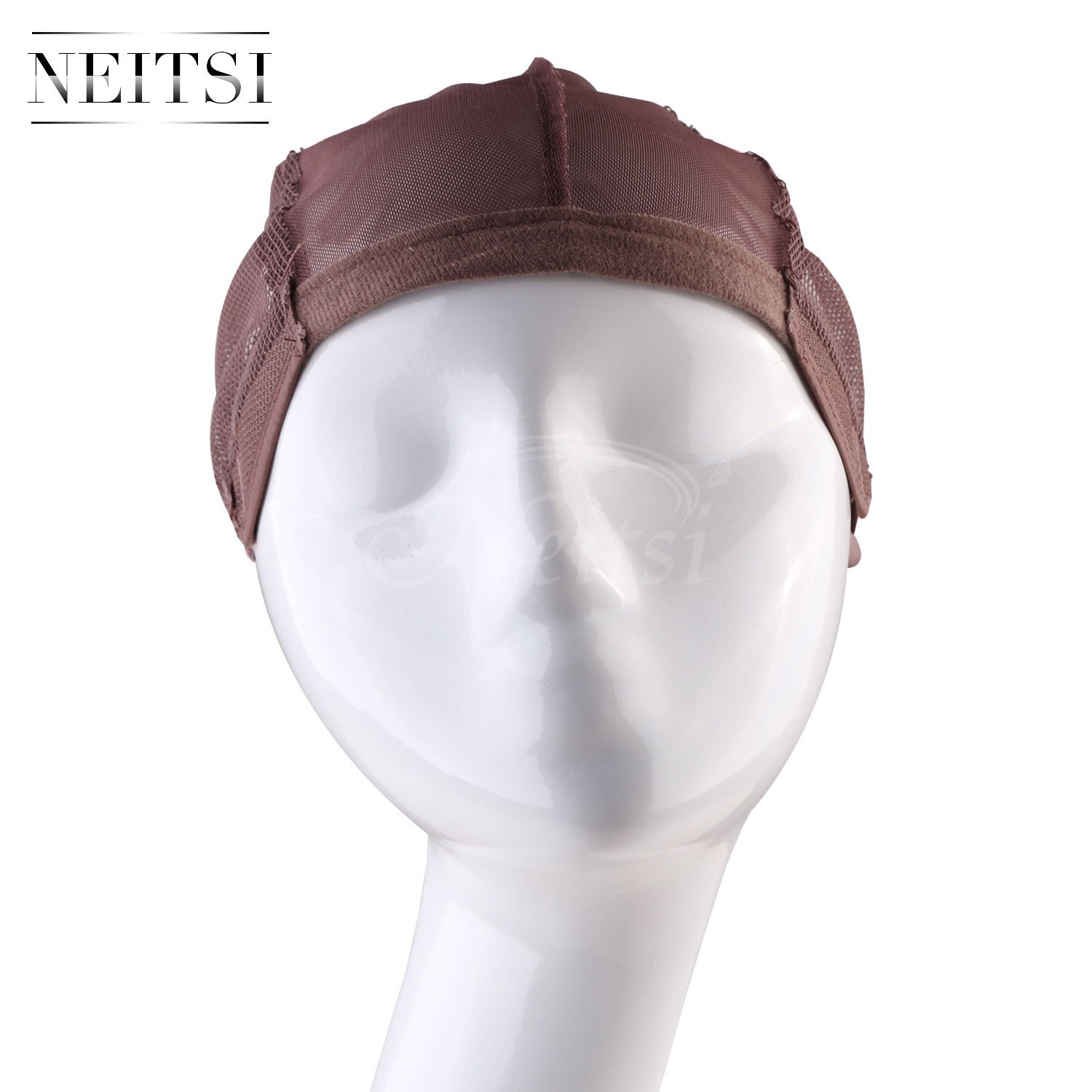 Neitsi Stretch Mesh Liner Breathable Hair Wig Weaving Wig Cap (Brown#) LTD