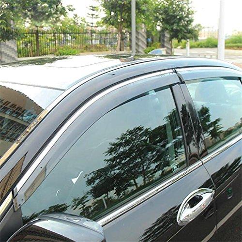 Vesul Updated Side Window Visor Rain Sun Wind Deflectors Guard Vent Shade Smoke Gray Fits on Honda Accord 2013 2014 2015 2016 2017