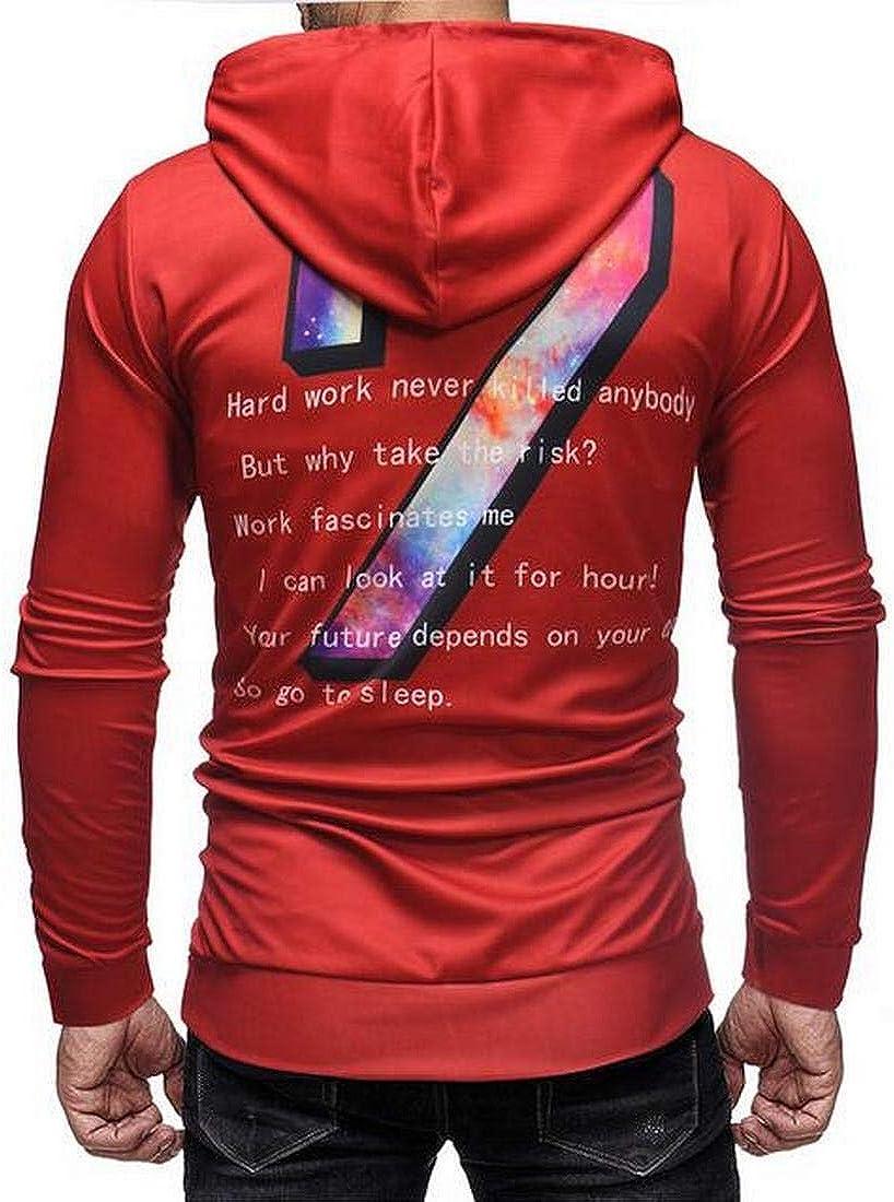 MK988 Men ComfortSoft Gym Loose Casual Pullover Hooded Hoodies Sweatshirt