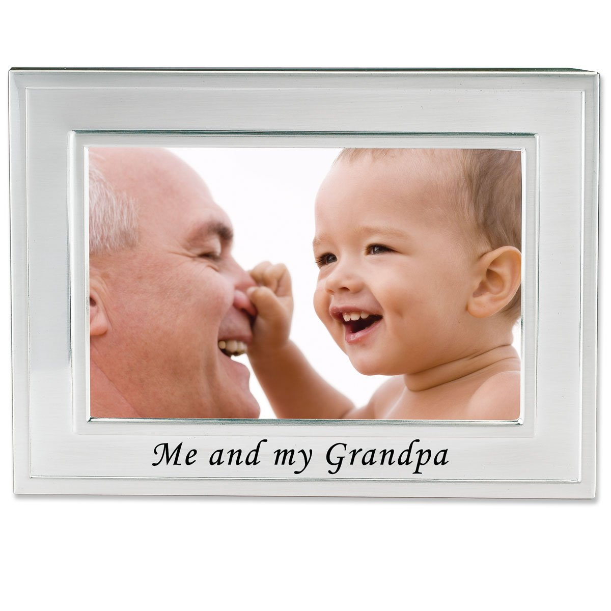 Amazon.com - Lawrence Frames Me and My Grandpa Silver Plated 6x4 ...