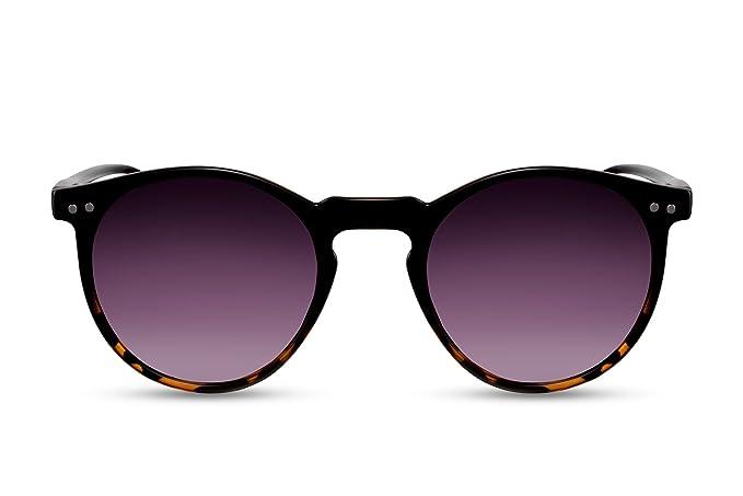 Cheapass Sonnenbrille Runde Gläser Schwarz Vintage Damen Herren buDFSFL783