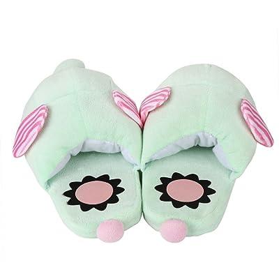 Flats Shoes, Qingfan Christmas Elephant Unisex Parents Kids Cute Plush Cotton Home Slippers Winter Warm Indoor Slippers Shoes