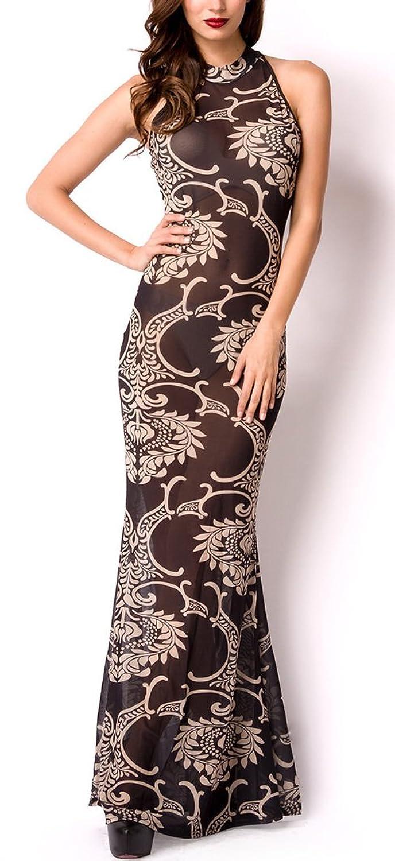 Schwarzes langes Abendkleid aus transparenten Stoff mit ...
